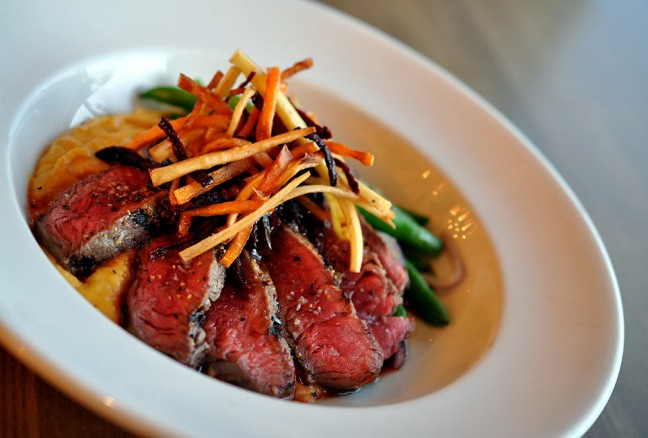 One of the many dishes being presented - Winter marinated sirloin.