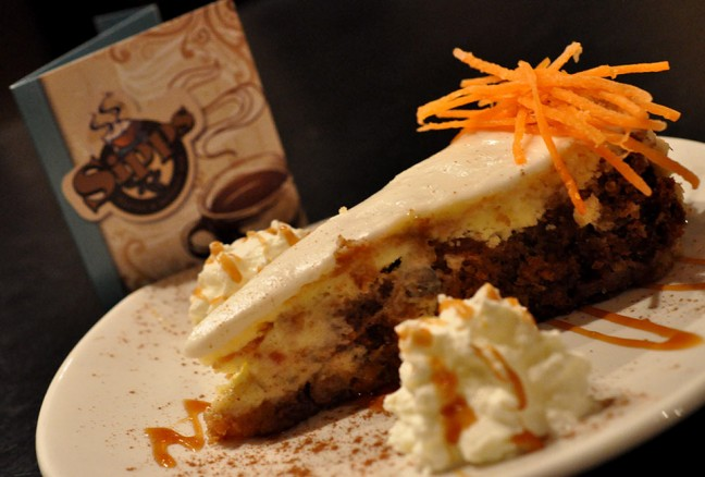 Dessert anyone? - Carrot cake meets a cheesecake.