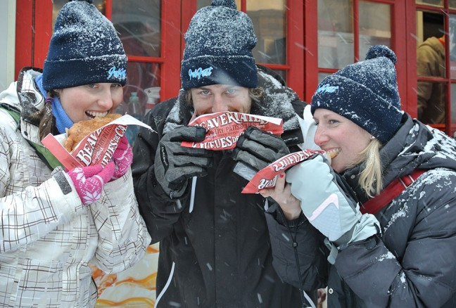 Enjoying beavertails.   CREDIT: Laura Meggs - Downtown Kingston!