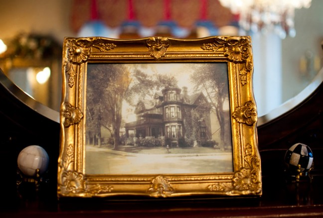 The Secret Garden Inn across from Sydenham United Church at William and Sydenham Street.