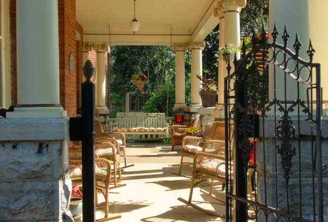 The beautiful porch in warmer months.