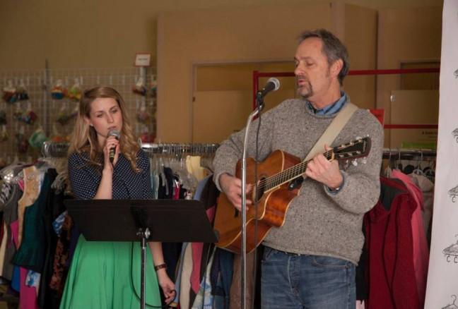 Alex Mundy and band serenade at half-time. Photo credit: Camille Prior.