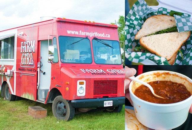 Farm Girl Food was serving their  beef dip sandwich and gourmet chili.