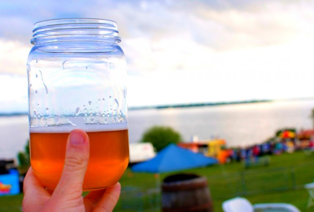 Enjoying the final beer from Whitewater Brewing Co. at the end of the day. What a view!