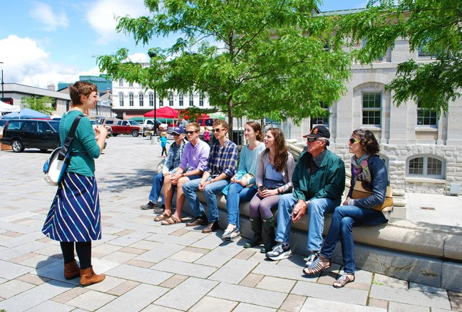 Hungry foodies get the lowdown on the local food scene on a Kingston by Fork tour last year. (photo by Julia Segal)