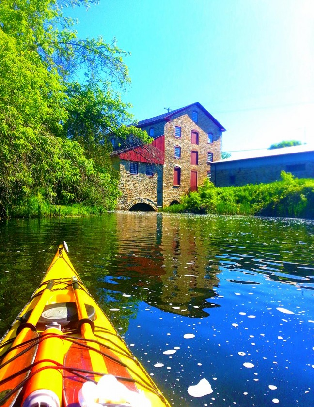 The Old Stone Mill in Delta, Ontario – the 200 year old mill still produces flour!
