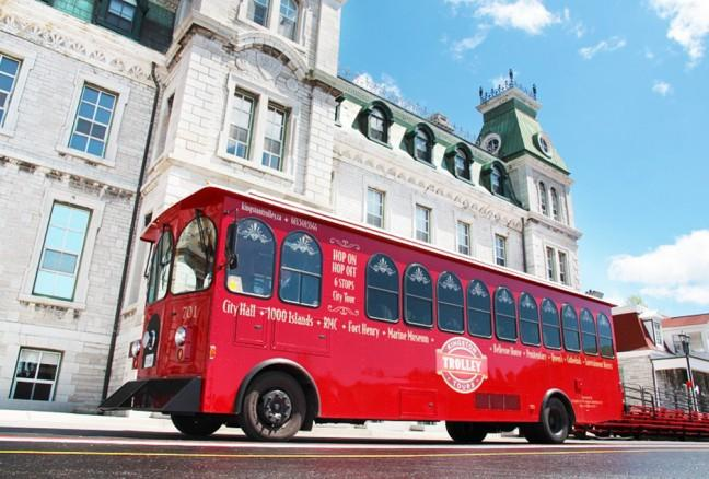 RMC's Mackenzie Building, one of the college's most iconic buildings. (photo by Kingston Trolley Tours)