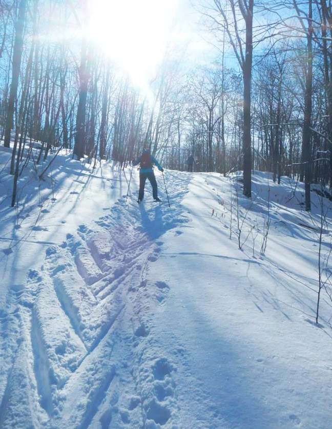 Exploring off trail in Frontenac Park