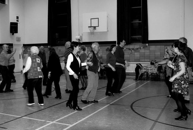 Young and old come and enjoy some lively Ceili dancing at Ecole CathedraleSchool. Photo credit Julie Bowes.