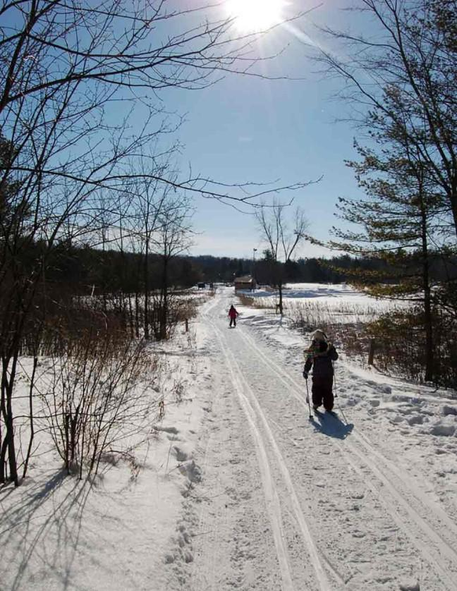 Skiing out to the sugar shack