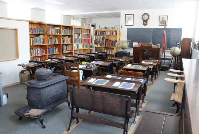 The classroom we can visit at the Frontenac County School Museums (photo from the museum's Facebook page)