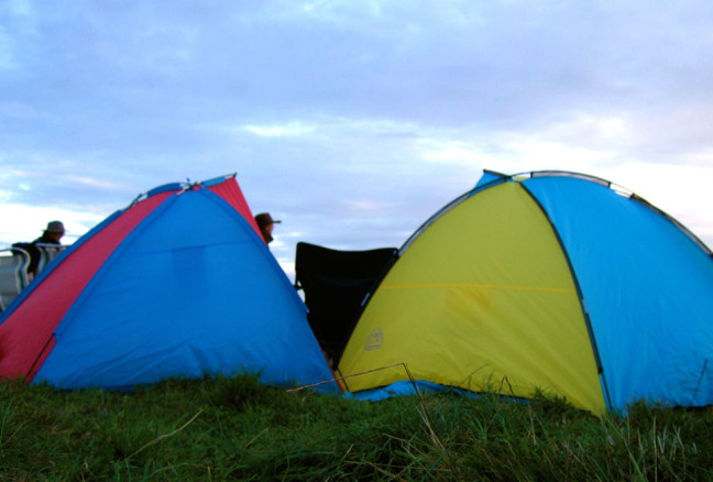 Depending on where you set up your tent, you might get a view of the main stage. (photo: Flickr/Simon Clayson)