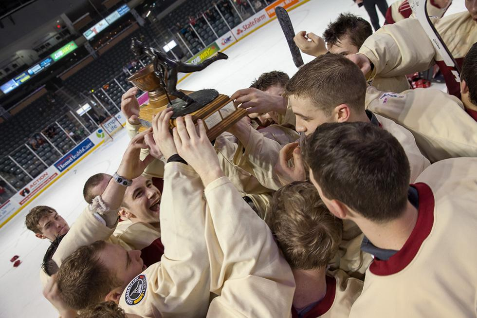 "The Carr-Harris Cup trophy, known as ""Lennie,"" is named after the first game's lone scorer. (Flickr/Queen's University)"