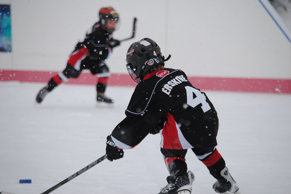 Kingston's youngest talent on Hockey Day! Photo via Laura Meggs