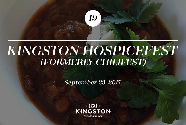 Kingston Hospicefest (formerly Chilifest) - September 23
