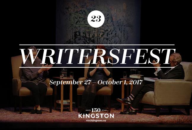 WritersFest - September 27 - October 1