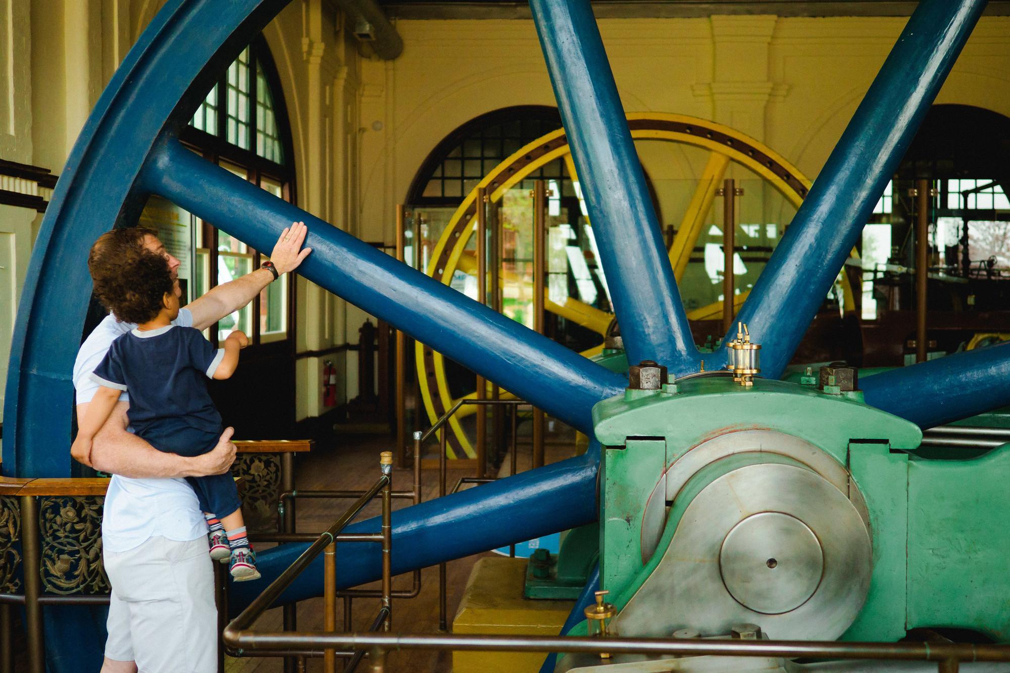 Inside the Pumphouse Museum, an original steam powered waterworks from 1851