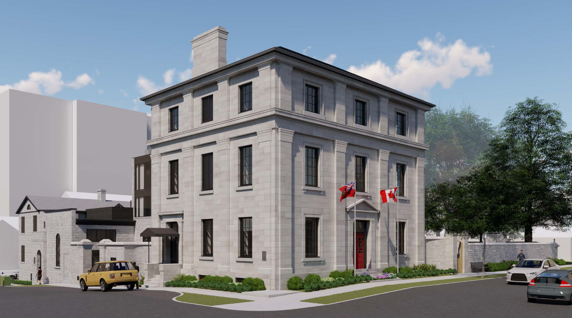 Rendering of the updated exterior on King and William Street