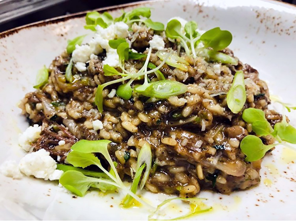 Braised short rib risotto